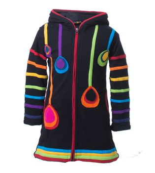 Kunst & Magie Kids Gnome Jacket with elfin hood Goa Psy – Bild 3