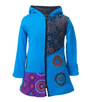 Funny Gnome Jacket with Hood in Blue and Rainbow Colors – Bild 6