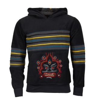 "Extravagant Fleece Jacket ""Buddha"" in a Unique Design Goa Psy Hippie – Bild 1"