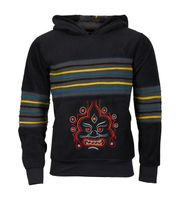 "Extravagant Fleece Jacket ""Buddha"" in a Unique Design Goa Psy Hippie 001"