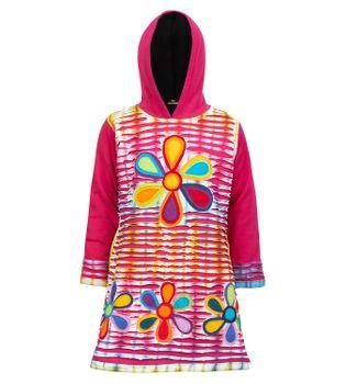Kunst und Magie Kinder Hippie Kleid mit Fleecefutter Cutwork bunt – Bild 3
