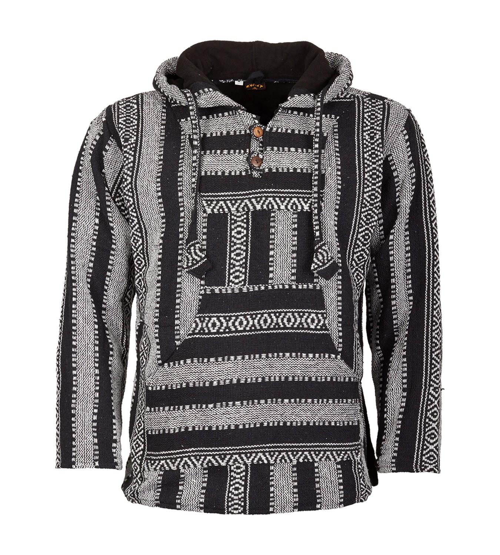 095fe17296e391 Kunst Und Magie Nepal Baja Jerga Sweatshirt Poncho with Fleece ...