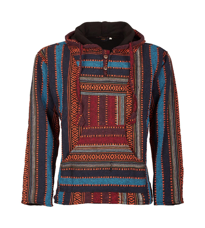 Kunst Und Magie Nepal Baja Jerga Sweatshirt Poncho with Fleece ... e4e0fc6324