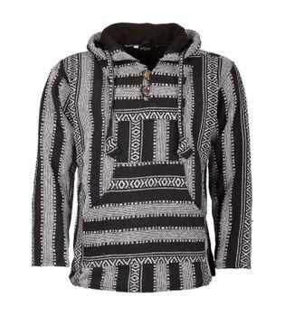 Kunst und Magie Nepal Baja Jerga Sweatshirt Poncho with fleece lining hood – Bild 5