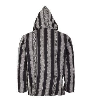 Kunst und Magie Nepal Baja Jerga Sweatshirt Poncho with fleece lining hood – Bild 6