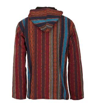 Kunst und Magie Nepal Baja Jerga Sweatshirt Poncho with fleece lining hood – Bild 4