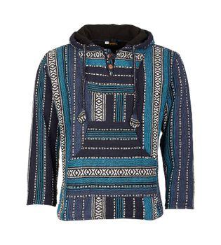 Kunst und Magie Nepal Baja Jerga Sweatshirt Poncho with fleece lining hood – Bild 1
