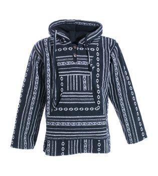 Kunst und Magie Nepal Baja Jerga Sweatshirt Poncho mit Fleecefutter Kapuze – Bild 10