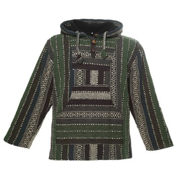Kunst und Magie Nepal Baja Jerga Sweatshirt Poncho mit Fleecefutter Kapuze – Bild 12