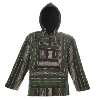 Kunst und Magie Nepal Baja Jerga Sweatshirt Poncho with fleece lining hood – Bild 13