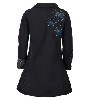 Womens Coat with Hood Flower Pattern - Jacket Cotton – Bild 2
