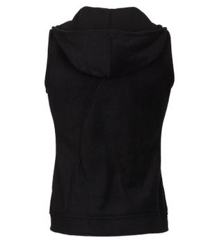 Goa Style Sleeveless Vest / Cardigan / Waistcoat with Hood in Black  – Bild 2