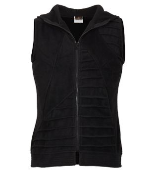 Goa Style Sleeveless Vest / Cardigan / Waistcoat with Hood in Black  – Bild 1