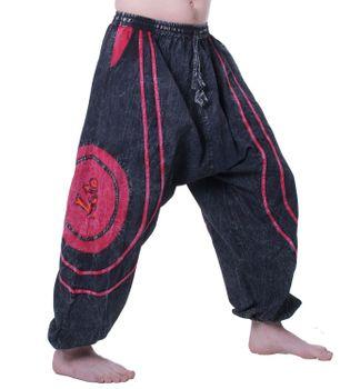 Kunst und Magie OM Baggy-Pants - Stonewashed Goahose – Bild 2
