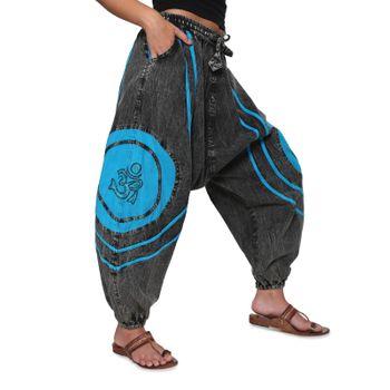 Kunst und Magie OM Baggy Pants - Stonewashed Goahose – Bild 6