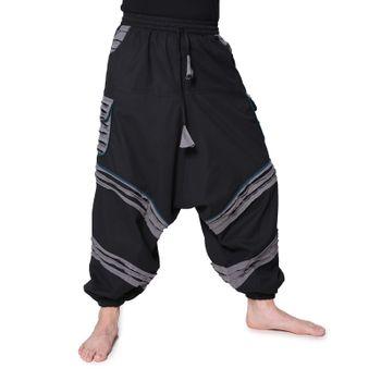 Flamboyant Goa Pants Men with Amazing Dots Hippie Harem Pants – Bild 1