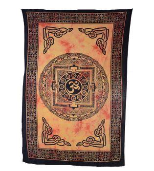 Wandbehang  Dekotuch Indien OM Symbol  ca 205 cm x 140 cm – Bild 1