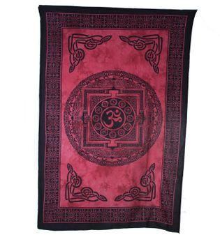 Wandbehang  Dekotuch Indien OM Symbol  ca 205 cm x 140 cm – Bild 2