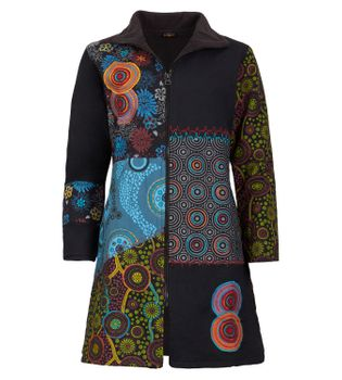 Women's Coat with Hood Embroideries - Jacket Cotton – Bild 2