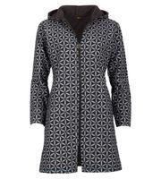 Women's Coat with Hood Flower Pattern - Jacket Cotton 001