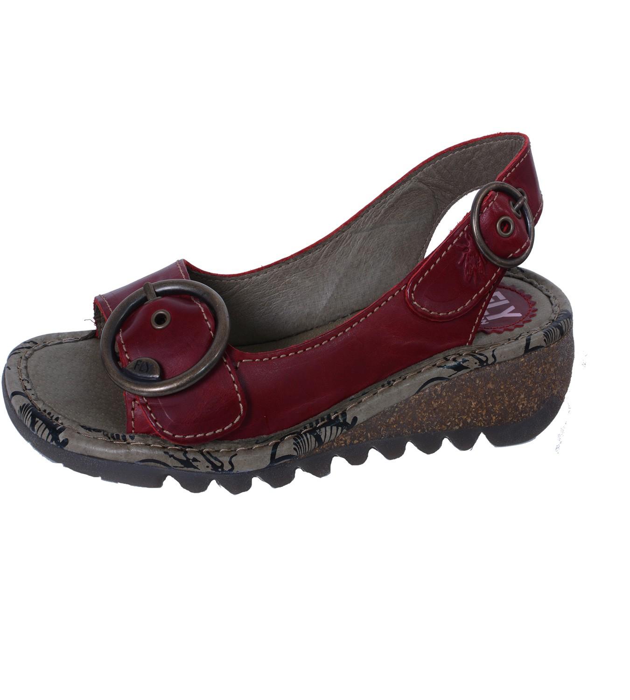 Fly London Tram Rug Damen Sandalette Mit Keilabsatz Und