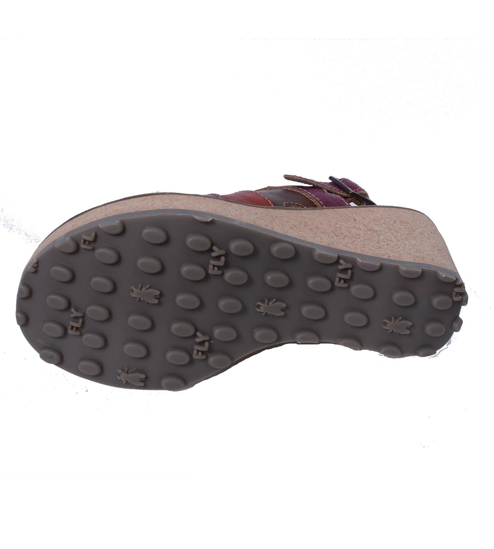 fly london sebta damen sandalette mit keilabsatz und plateausohle. Black Bedroom Furniture Sets. Home Design Ideas