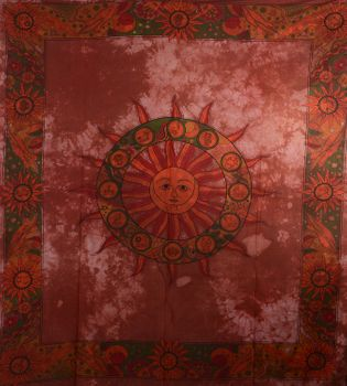 Kunst und Magie Wandbehang Dekotuch Sonne, Mond und Sternzeichen – Bild 4