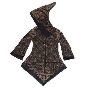 Women's Fleece Mantel Coat Jacket with Hood Goa Psy Hippie Boho Extravagant – Bild 10