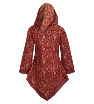 Women's Fleece Mantel Coat Jacket with Hood Goa Psy Hippie Boho Extravagant – Bild 2