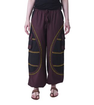 Flamboyant Goa Pants Men with Amazing Dots Hippie Harem Pants – Bild 3
