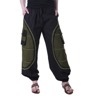 Flamboyant Goa Pants Men with Amazing Dots Hippie Harem Pants – Bild 12