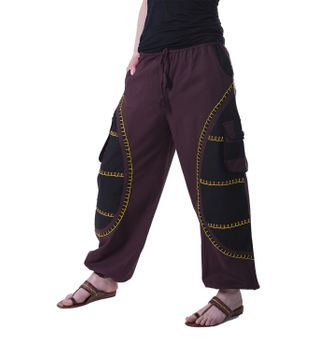 Flamboyant Goa Pants Men with Amazing Dots Hippie Harem Pants – Bild 4