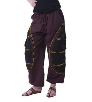 Kunst und Magie Goa Medival harem pants with stitching - Unisex for him and her – Bild 1