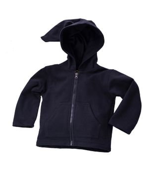 Funny Gnome Jacket with Hood in Blue and Rainbow Colors