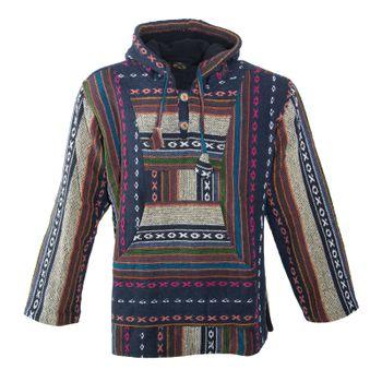 Kunst und Magie Nepal Baja Jerga Sweatshirt Poncho – Bild 21