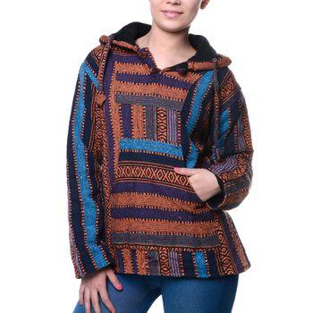 Kunst und Magie Nepal Baja Jerga Sweatshirt Poncho – Bild 3
