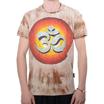 Kunst und Magie Sure 70er Retro T-Shirt OM in Batik Look  – Bild 2