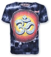 Kunst und Magie Sure 70er Retro T-Shirt OM in Batik Look  001