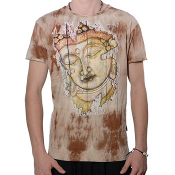 Kunst und Magie Colorful Sure 70s Retro T-Shirt Buddha in Hippie Batik Look – Bild 5