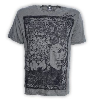 Sure 70er Retro T-Shirt Buddha im Hippie Look – Bild 3