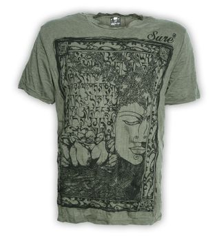 Sure 70er Retro T-Shirt Buddha im Hippie Look – Bild 2