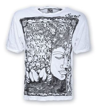 Sure 70er Retro T-Shirt Buddha im Hippie Look – Bild 1
