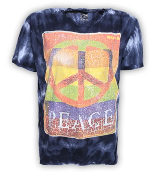 Sure Peace 70er Retro T-Shirt im Batik Look