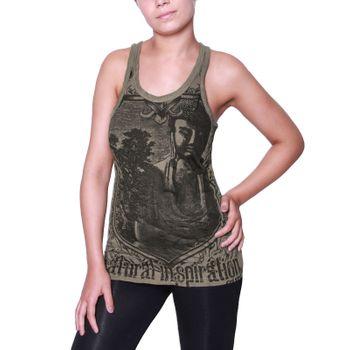 Kunst und Magie Sure Crying Buddha  70er Retro Trägertop  T-Shirt – Bild 2
