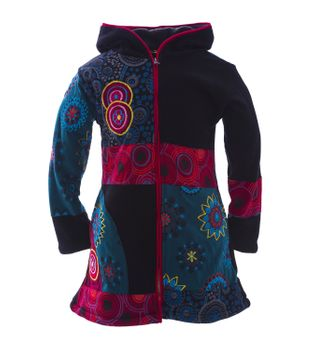 Funny Gnome Jacket with Hood in Blue and Rainbow Colors – Bild 9