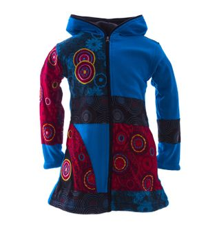 Funny Gnome Jacket with Hood in Blue and Rainbow Colors – Bild 5