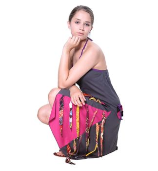Kunst und Magie Naughty Minikleid Longshirt Tunic Hippie Boho carrier dress – Bild 2
