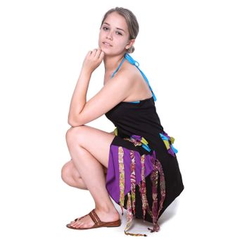 Kunst und Magie Naughty Minikleid Longshirt Tunic Hippie Boho carrier dress – Bild 5