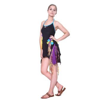 Kunst und Magie Naughty Minikleid Longshirt Tunic Hippie Boho carrier dress – Bild 4
