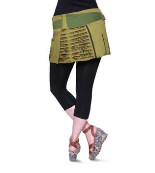 Beautiful Summer Wrap Skirt with Pocket Miniskirt Hippie Goa Skirt – Bild 16